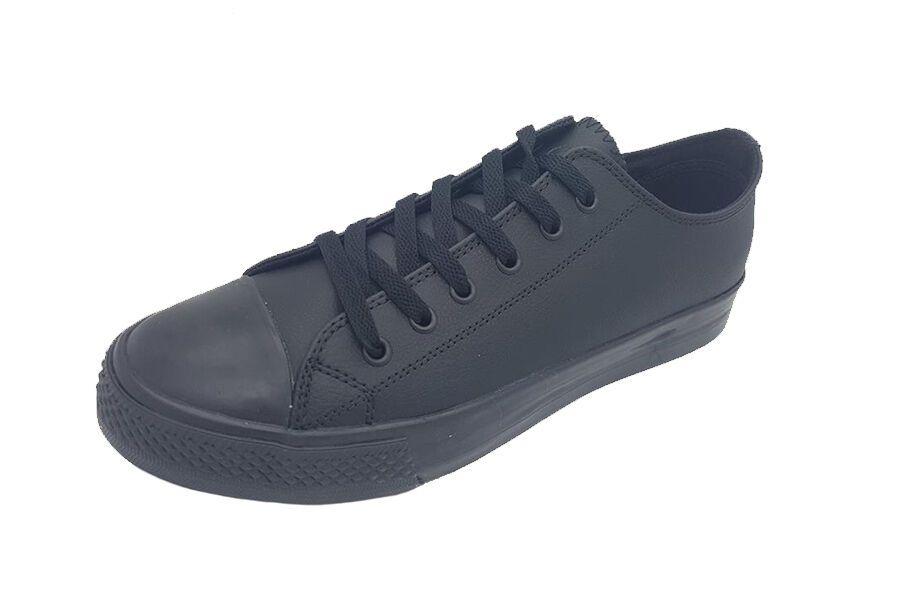 Mens Shoes Corbi Barrell Black Leather