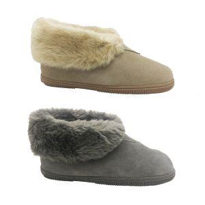 Ladies Slippers Panda Eliya Leather Slipper Boot Warm Soft Fluffy Size 5-10 New