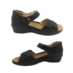 Natural Comfort Elise Ladies Sandal Leather Heel In Adjustable Straps Light
