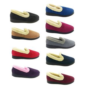 Ladies Slippers Panda Emille Soft Microsuede Upper Wider Comfy Size 5-10