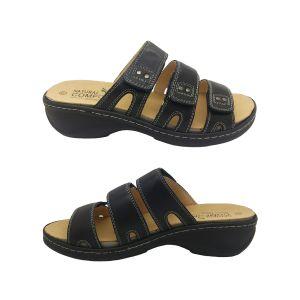 Natural Comfort Fauna Ladies Sandal Leather Slip On 3 Adjustable Straps