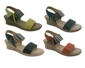Ladies Shoes SOA Winna Wedges Sandals Black Lemon Orange Navy Size 6-10 New