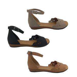 Bondi Galan Ladies Summer Sandals Ankle Strap Heel In Flexi Sole Size 5-10