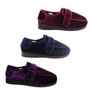 Ladies Slippers Panda Elisa or Comfit Brunette Adjustable Slipper New Size 5-10