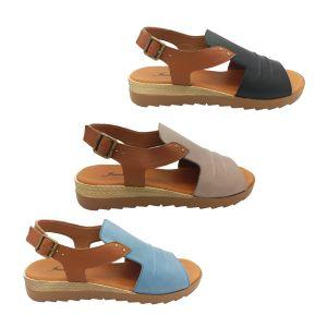 Jemma Kamila Ladies Sandal Leather Upper 2 Tone Slingback Light Comfy Size 5-11