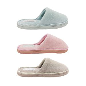 Grosby Loop Invisible Support Womens Slipper Scuff Soft Open Back Flat Slip On