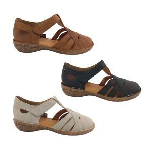 Jemma Myla Ladies Open Shoe Leather Upper Stitched Top Lightweight Size 5-11