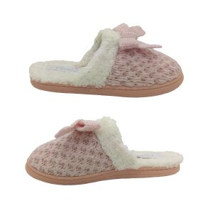 Grosby Invisible Support Shimmer Ladies Slippers Mule Knit Top Soft Lining