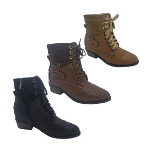 Ladies Boots Step On Air Tiempo Lace/Zip Up Military Style Boot Size 6-10