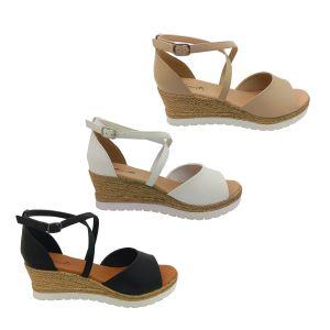 Bondi Winter Ladies Dress Sandals Crossover Ankle Strap Heel In Wedge Size 5-10