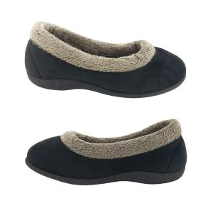 Padders Wintery Ladies Slippers Low cut Top Soft Trim Padded Insole Slip On